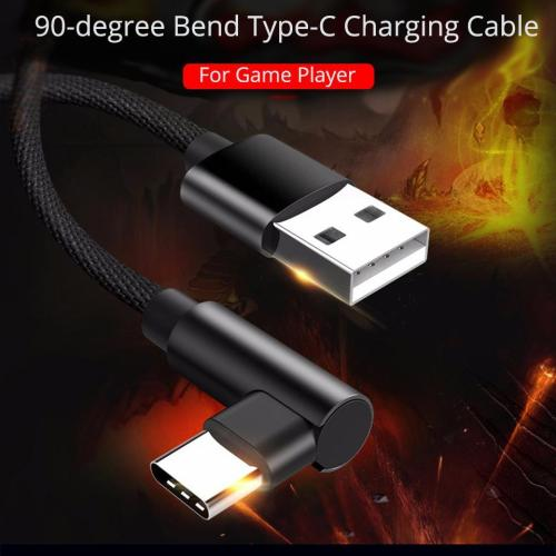 90 Degree Type C Charging Cable Fast Charge for Phone