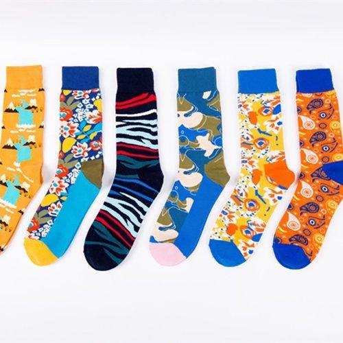 Abstract long tube personality socks