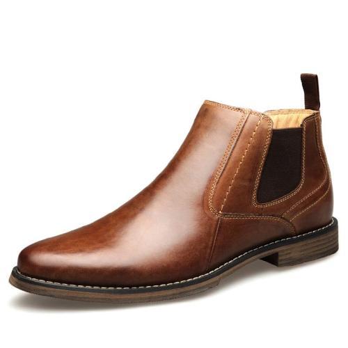 Men's Leather Shoes Blogue Men Genuine Leather Slip on Shoes 2019 Fashion Casual Design Sneakers Top Quality Men Shoe