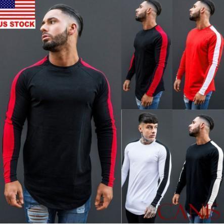 Men's  Slim Casual Long-Sleeved Pullover T-shirt