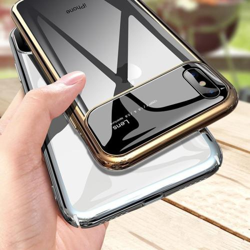 Stylish Tempered Glass Case For iPhone XS Max XR X
