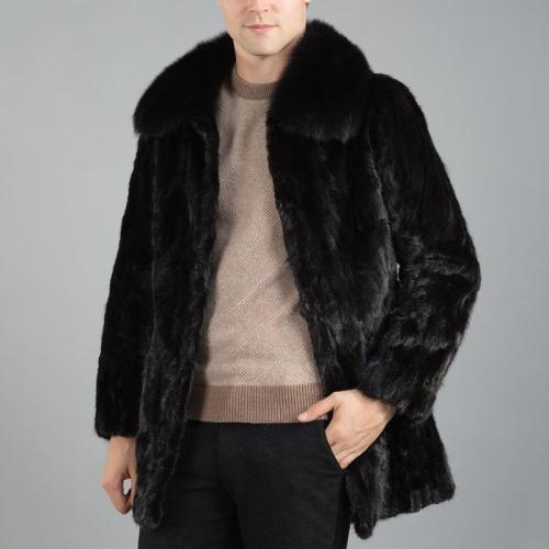 Faux Mink Fur Coat