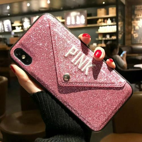 Luxury NEW Glitter Embroidery Leather Case for iPhone
