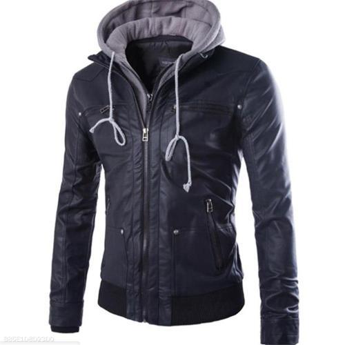 Fashion Casual Thermal Plain Long Sleeve Men Outerwear