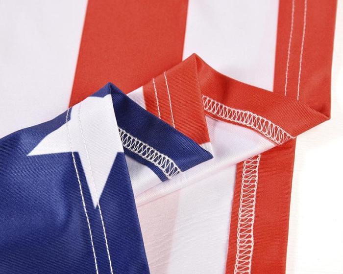 Loose Star Stripe Print Men's Short Sleeve T-shirt