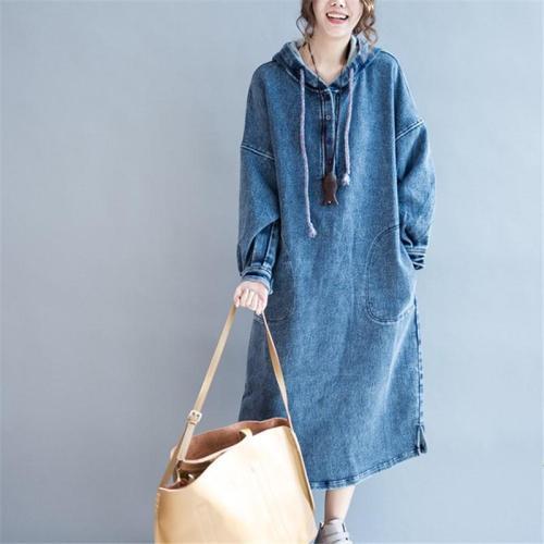 Casual Baggy size  loose jeans Maxi dress Evening Dress