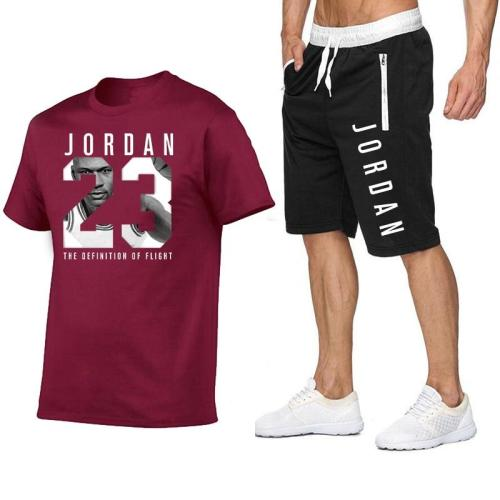 2020 summer new product Jordan 23 short-sleeved suit breathable comfortable quick-drying outdoor sports shorts suit