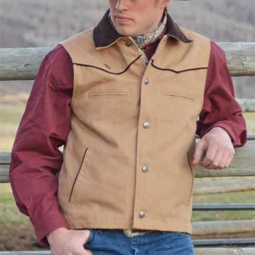 Men's fashion simple solid color vest