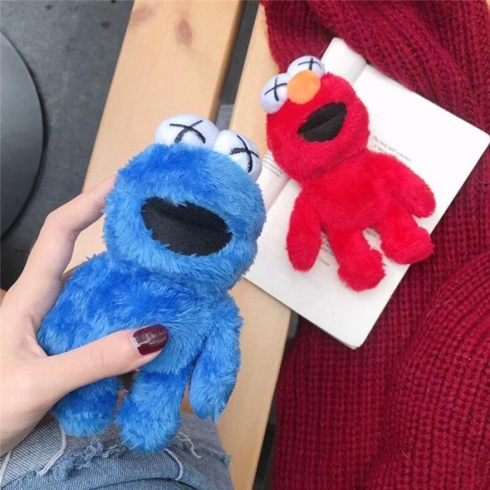 Cartoon Sesame Street Plush Doll Winter AirPod Case
