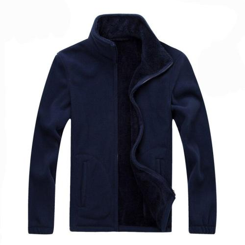 7XL 8XL Mens Softshell Fleece Casual Jackets Men Winter Warm Sweatshirt Woolen Thermal Coats Solid Thickened Velvet Brand Jacket