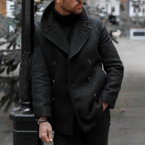 Men's Woolen Casual Long Sleeve Blazer