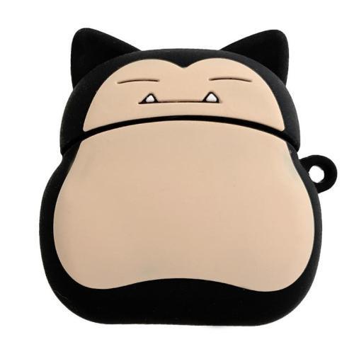 Cartoon Snorlax Kabigon Cute Bear  3D Silicone AirPod Case Cover