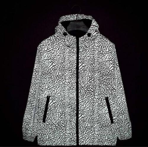 New Men 3M Reflective Jacket Camouflage Zipper Crack explosion Hoodies movement Hip Hop Waterproof Windbreaker Fluorescent Coat
