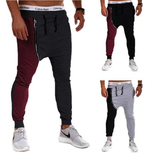 Novelty Patchwork Zip Pants