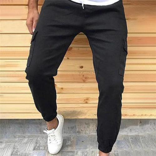 Casual Fashion Loose Solid Color Sport Men Pants