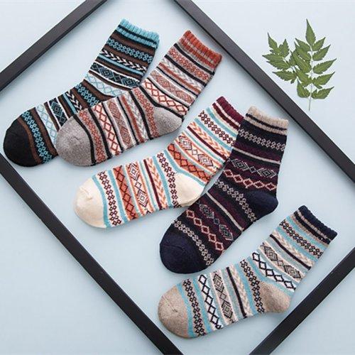 Retro rabbit wool high-end national style warm socks