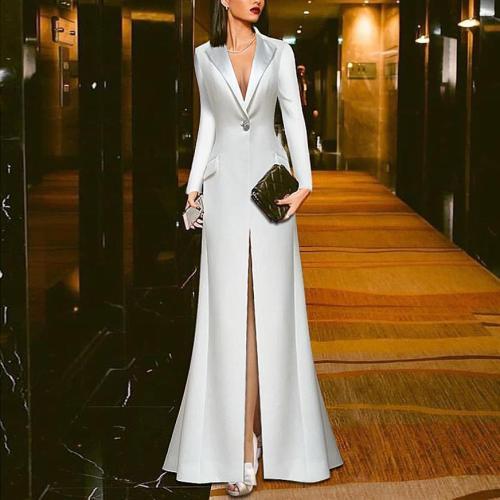 White Suit Evening Dress