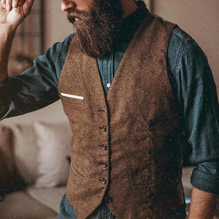 Simple Solid Color Pocket Vest