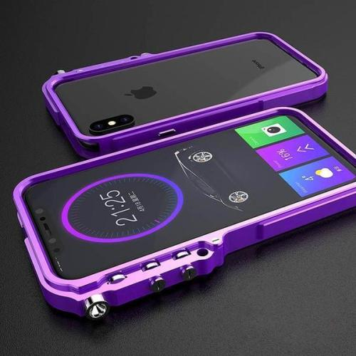 High-end 3D Stereoscopic Bumper Metal Case For iPhone X XS Max Xr