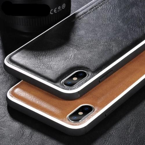 Leather Solid Color Phone Case For iPhone