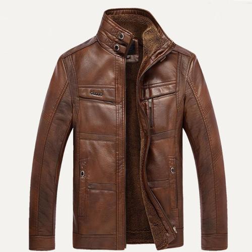 Mountainskin Leather Jacket Men Coats