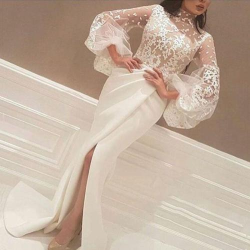 Sexy Slim-fit Lace Fishtail Evening Maxi Dress