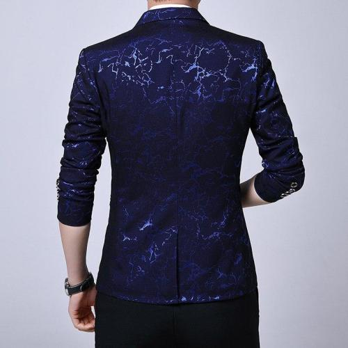 Luxury Party Prom Blazer Shinny Yarn Wine Red Blue Black Suit Coat Men Slim Fit Business Dress Blazer Homme Suit Jacket Men 4xl
