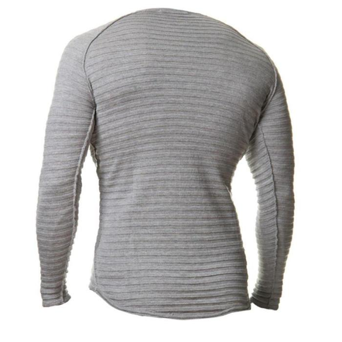 Cheap Mens Pullover Solid Color Slim Fit Top T shirt
