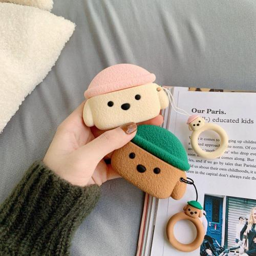Kawaii 3D Dog AirPods Pro Case Silicone Shockproof Cover