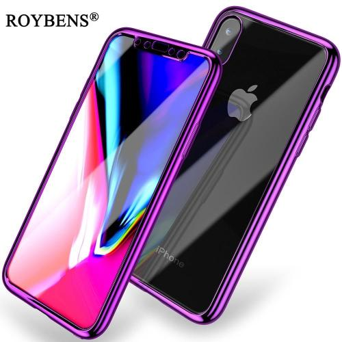 Luxury Soft 360 Degree Full Protection Transparent Silicone Plating Cover For iPhone