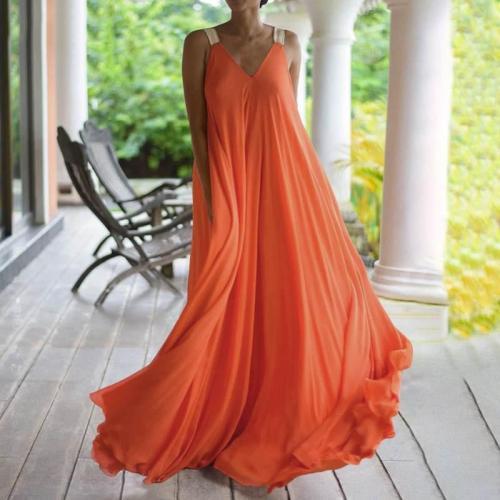 Summer Woman Dresses Chiffon Spaghetti Strap Elegant Party Dresses Woman Sleeveless Backless V Neck Woman's Dresses Vestido 2020