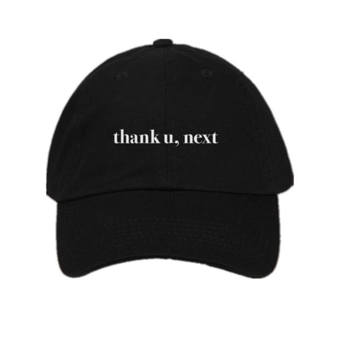 Letter Thank U,Next Baseball Caps Embroidery Dad Hat Unisex Women Man Hats