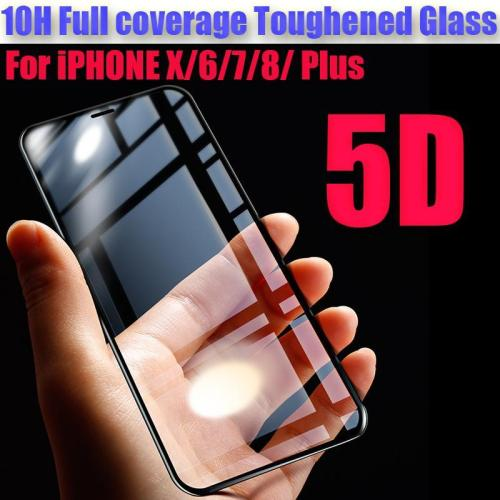 5D 10H Curved Edges Full coverage Tempered glass For iphone