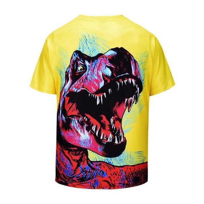 Creative 3D Dinosaur Printed T-shirt