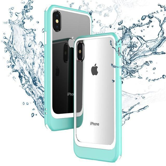 Luxury Crystal Clear Acrylic + Silicone TPU Case For iPhone X XR XS XS Max 8 7/plus