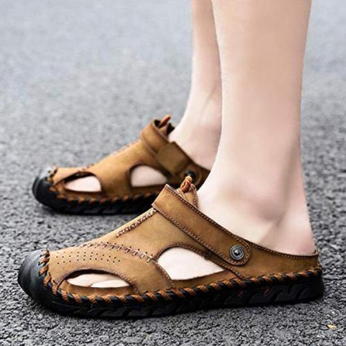 Mens Large Size Summer Hollow Out Beach Sandals