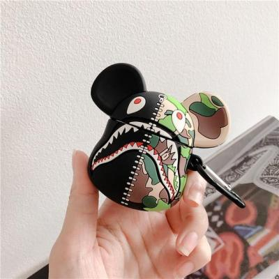 3D Camouflage Bear AirPods Case Shock Proof Cover