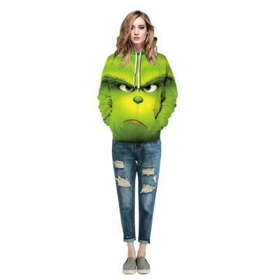 The Grinch 3D Christmas Green Pullover Hoodie Casual Hooded Sweatshirt Jacket Coat