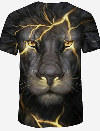 Men Street Chic Color Block 3D Graphic Print T Shirt