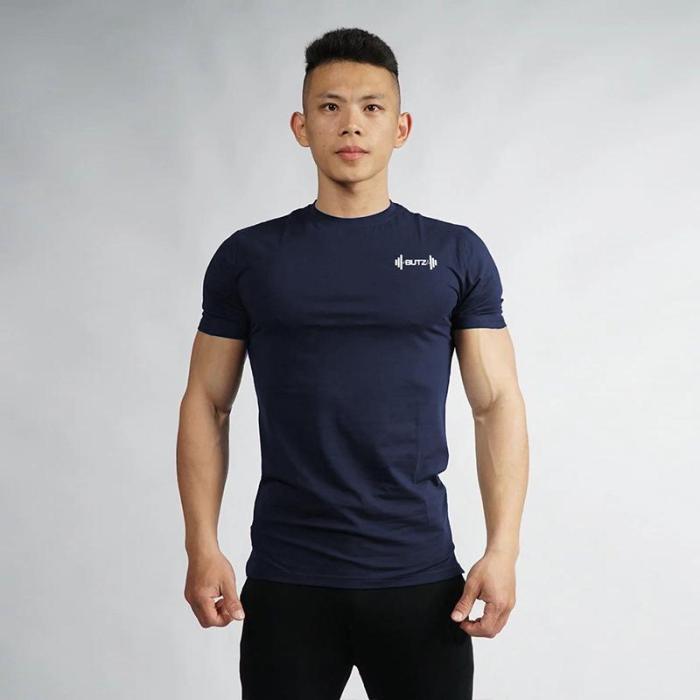 Mens Short Sleeve Fitness Sports T-shirt