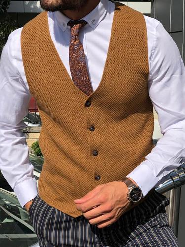 Casual Pure Color Single Breasted Vest