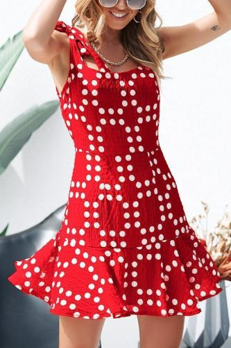 Casual Fashion Floral Print Sleeveless Mini Dress