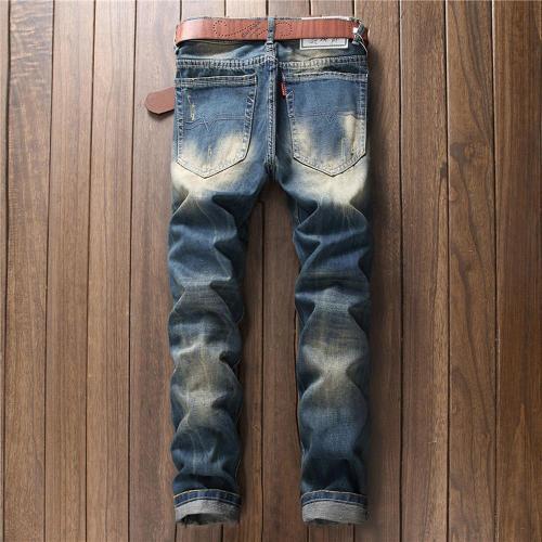 Vintage Zipper Hole Casual Mid Waist Jeans