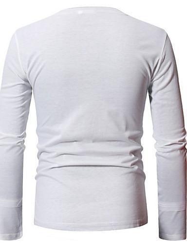 Men Daily Solid Colored T-shirt