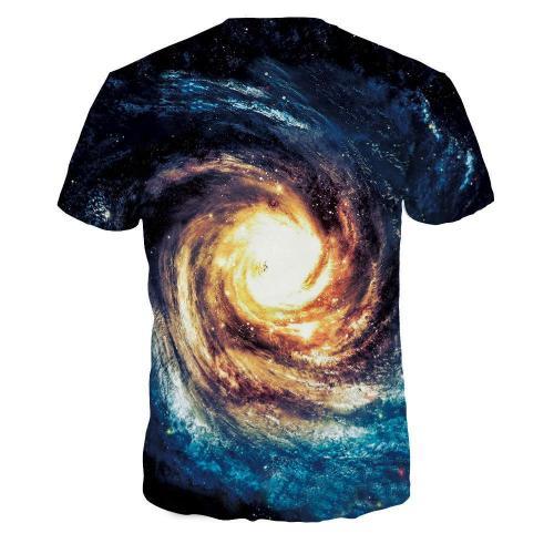 Swirl Galaxy Printed Casual Short Sleeve T-shirt