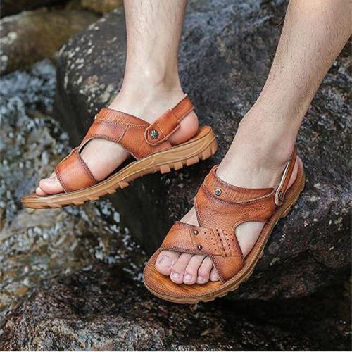 Mens Summer Casual Slip On Beach Shoes Outdoor Sandals