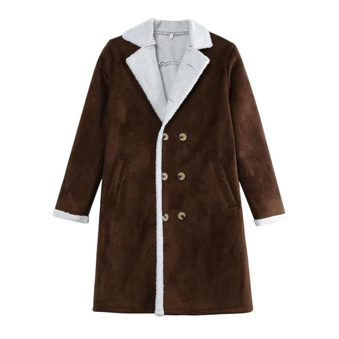 Hirigin Winter Men Casual Birtish Style Faux Fur Lapel Long puffy Jacket Long Thicken Parka Lot Warm Coat