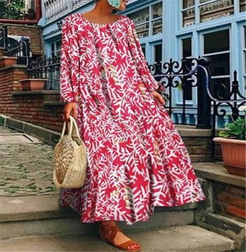 Straight Tube Dresses Trend Personalized Dress Fashion Women's Dress Digital Printing Long Dress Casual Dress