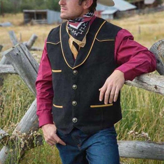 Men's fashion simple color matching vest