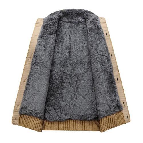 Mens Winter Thick Fur Lining Sweaters Autumn Men Sweater Coats Velvet Fleece Warm Cardigan Jacket Male Brand Clothing Tops
